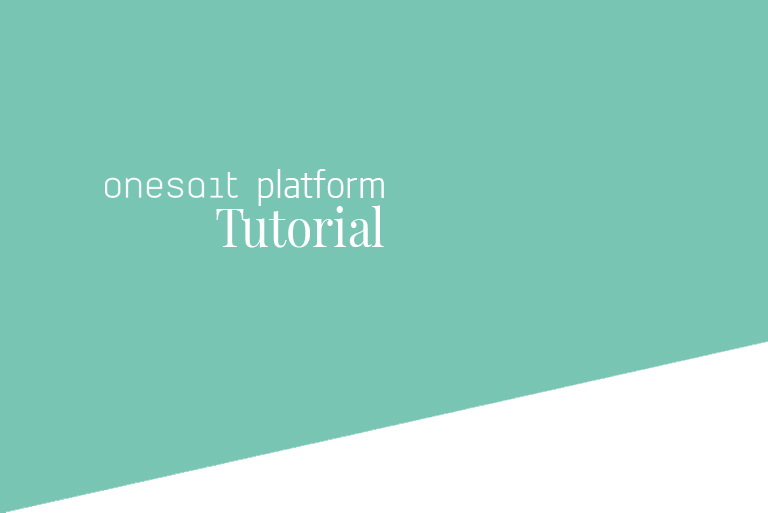Header Onesait Platform Tutorial